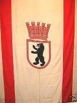 Länder & Flaggen mieten & vermieten - Flagge Berlin, Berlin, Flagge, Wappen, Berliner Wappenflagge, Wappenflagge, Fahne, Wappenfahne, Symbol, Dekoration in Kamp-Bornhofen