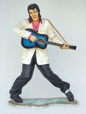 Dekofiguren mieten & vermieten - Elvis Figur mit Gitarre, Elvis, Elvis Presley, Figur, Gitarrenspieler, King of Rock, Rock'n'Roll, Dekoration, Musik in Lahnstein