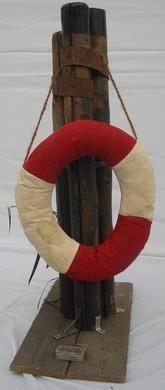Dekofiguren mieten & vermieten - Poller Maritim, Poller Nordsee, Poller Küste, Poller, Maritim, Rettungsring, Rettungsreifen, Steg, Hafen, Anlegesteg in Kamp-Bornhofen
