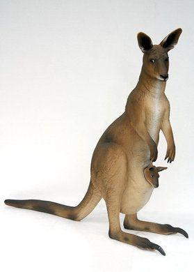 Dekofiguren mieten & vermieten - Känguru Figur, Känguru, Figur, Australien, Känguru mit Baby, Dekoration, Event, Messe, Veranstaltung, leihen, mieten in Lahnstein