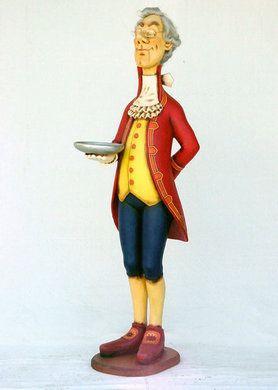 Dekofiguren mieten & vermieten - England Butler Figur, englisch, England, Großbritannien, Great Britain, Britannien, Butler, Figur, Ober, Kellner in Lahnstein