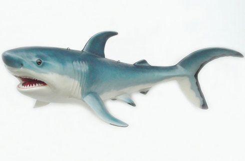 Dekofiguren mieten & vermieten - Haifisch Figur, Hai, Haifisch, Fisch, Figur, Unterwasser, Wasser, Meer, Raubfisch, Weißer Hai, Shark, Dekoration, Event in Lahnstein
