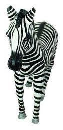 Dekofiguren mieten & vermieten - Zebra Figur, Zebra, Savanne, Afrika, afrikanisch, Figur, Steppe, Tier, Dekoration, Zoo, Zirkus, Event, Messe in Kamp-Bornhofen
