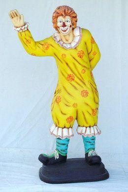 Dekofiguren mieten & vermieten - Clown Figur, Clown, Zirkus, Spaß, Unterhaltung, Figur, Dekoration, Bespaßung, Event, Messe, Veranstaltung, leihen in Kamp-Bornhofen