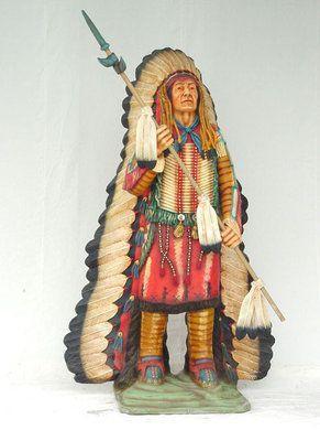 Dekofiguren mieten & vermieten - Indianer Häuptling Figur, Indianer, Häuptling, Figur, Western, Wilder Westen, Cowboy, Dekoration, Indianerhäuptling in Kamp-Bornhofen