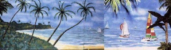 Dekorationsservice mieten & vermieten - Beach Kulissen, Beach, Meer, Strand, Kulisse, Beachparty, Strandparty, Palmen, Küste, Event, Messe, Veranstaltung in Kamp-Bornhofen