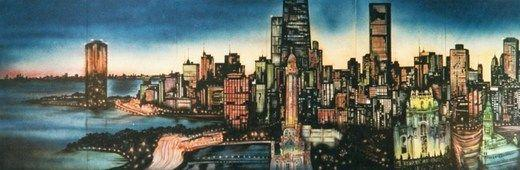 Dekorationsservice mieten & vermieten - Amerika Chicago Kulisse 1, Chicago, Chicago Kulisse, Amerika, USA, Amerika Kulisse, Kulisse, amerikanisch, Event, Messe in Lahnstein