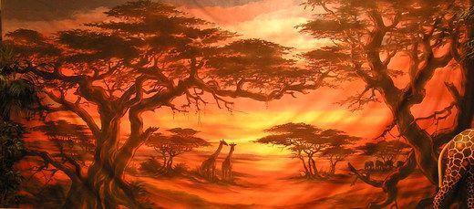 Dekorationsservice mieten & vermieten - Afrika Serengeti Kulisse, Afrika, Serengeti, Kulisse, afrikanisch, Wüste, Savanne, Event, Messe, Veranstaltung, leihen in Lahnstein