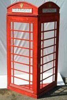 Dekorationsservice mieten & vermieten - England Telefonzelle, Telefonzelle, Englisch, England, London, Münztelefon, British, Britannien, Great Britain in Kamp-Bornhofen