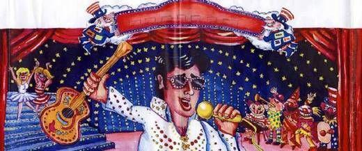 Dekorationsservice mieten & vermieten - Karneval Elvis Kulisse, Karneval, Carneval, Fasching, Fassnacht, Fassenacht, Elvis Presley, King of Rock, Dekoration in Kamp-Bornhofen