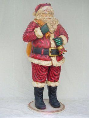 Dekorationsservice mieten & vermieten - Weihnachtsmann mit Glocke Figur, Weihnachtsmann, Weihnachten, Weihnachtszeit, Adventszeit, Nikolaus, Geschenkesack in Kamp-Bornhofen
