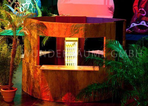 Dekoration mieten & vermieten - Afrika-Bar -. WUNDERRÄUME GMBH vermietet: Dekoration/Kulisse für Event, Messe, Veranstaltung, Incentive, Mitarbeiterfest, Firmenjubiläum in Lichtenstein/Sachsen