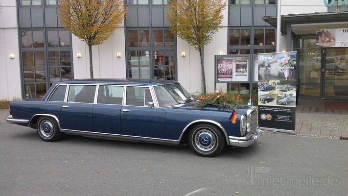 Hochzeitsauto mieten & vermieten - Mercedes 600 Pullman (W 100) mit Chauffeur in Ansbach
