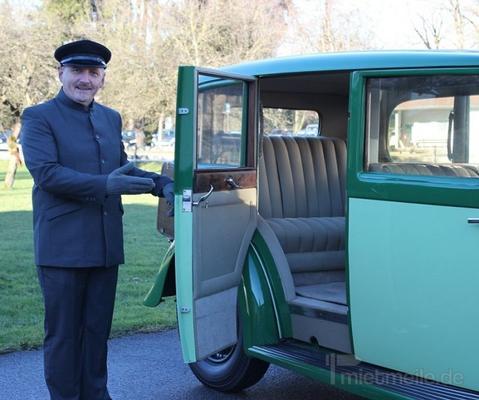 Hochzeitsauto mieten & vermieten - Luxuriöser engl. Daimler von 1934 mit 7-Sitzen in Bernau am Chiemsee