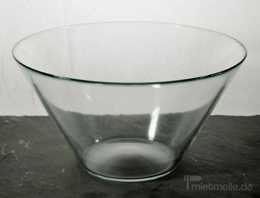 Geschirr mieten & vermieten - Salatschüssel Glas in Rosenheim