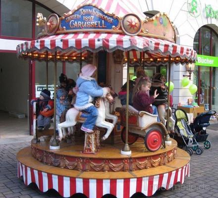 Karussell mieten & vermieten - 12 sitziges Karussell ~ Kinderkarussell ~ Nostalgiekarussell  in Rheinmünster