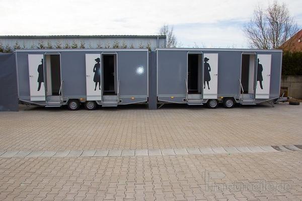Toilettenwagen mieten & vermieten - Toilettenwagen 4&1 silber in Dorsten