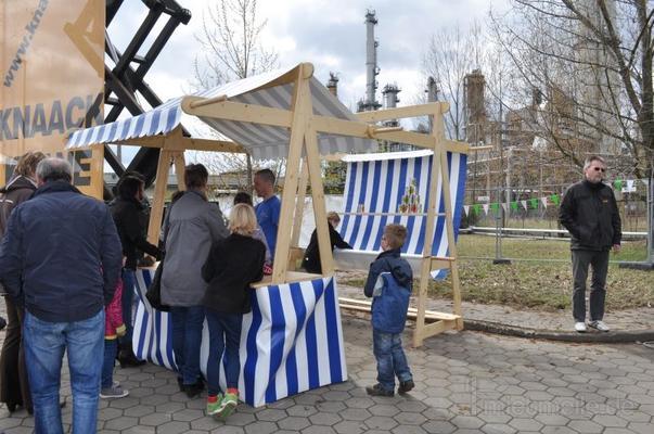 Spielgeräte mieten & vermieten - Dosenwerfen im Marktstand mieten in Schwerin