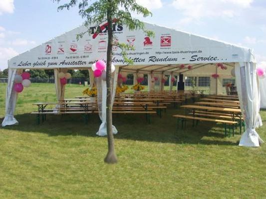 Partyzelte mieten & vermieten - Partyzelt 8 x 21 m in Reinstädt