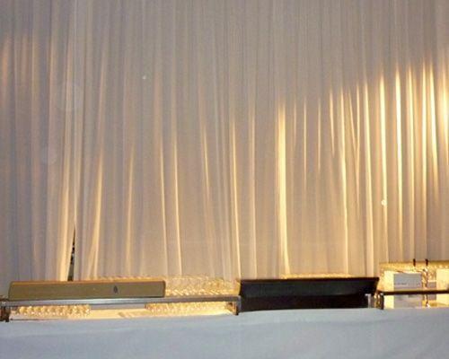 Kulissen mieten & vermieten - Seitenbehang gerafft für Ihre Eventdekoration in Reinstädt
