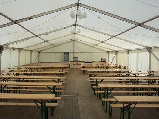 Partyverleih mieten & vermieten - Firmenfeier, Hochzeit, Geburtstag, Jubiläum - Zelt/ Location mit Ausstattung für Ihr Event 201 - 300 Personen rustikal in Reinstädt