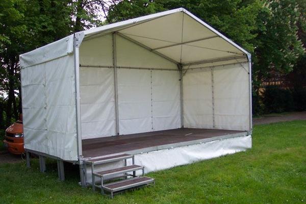 Bühne mieten & vermieten - Bühne mit Dach 6 x 3m - Zeltüberdachung in Reinstädt