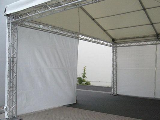 Bühne mieten & vermieten - Gaze weiß für Ihr Podest in Reinstädt