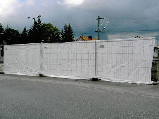 Absperrzubehör mieten & vermieten - Sichtschutzplane für Zaun, inkl. Kabelbinder in Reinstädt