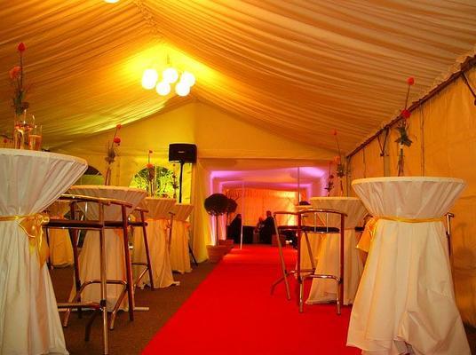 Stehtischhussen mieten & vermieten - Seitenbehang glatt für Ihre Eventdekoration in Reinstädt