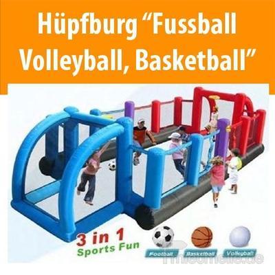 "Hüpfburg mieten & vermieten - Hüpfburg ""Fußball, Volleyball, Basketball"" in Dresden"