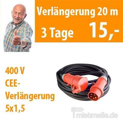 Werkzeuge & Geräte mieten & vermieten - Kabel 400 Volt 20 m in Dresden