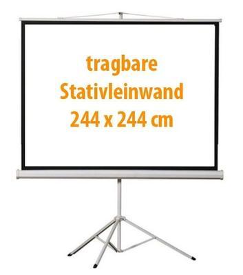Leinwand mieten & vermieten - Beamer Leinwand 2,44 x 2,44 m in Dresden