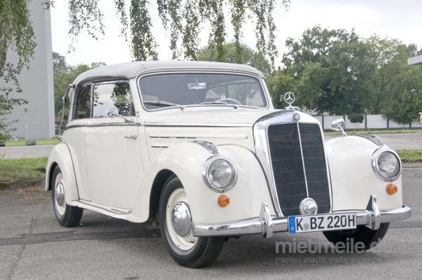 Oldtimer mieten & vermieten - Mercedes-Benz 220 Cabriolet B in Köln