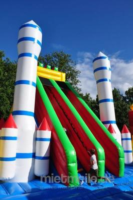 Hüpfburg mieten & vermieten - Raketenbasis - Hüpfburg - Riesenrutsche mieten in Schwerin