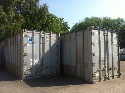 Material- & Lagercontainer mieten & vermieten - 2 x Lagercontainer 28 qm Self Storage in Ratingen