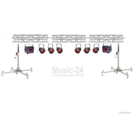 Lichttechnik mieten & vermieten - Lichtanlage 6m Traversen, 6x Led Scheinwerfer, 2x Tri Phase, Lichteffekt in Wismar