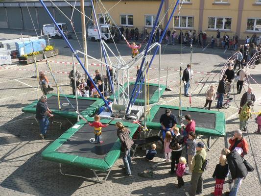 Trampoline mieten & vermieten - 4er Bungee Trampolin, Quarter Jump, High Flyer mieten in Ockenheim