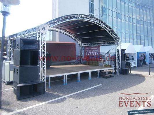 Partyzelte mieten & vermieten - Event Shelter 3 x 3 x 2,2 m / Grau-Grün / inkl. Auf- und Abbau / mit Gewichten in Neumünster