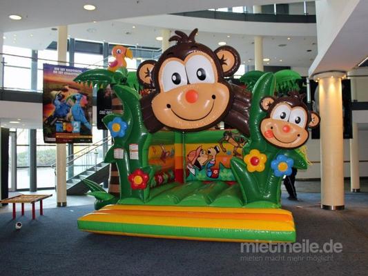 Hüpfburg mieten & vermieten - Hüpfburg Charly / Dschungel / Tarzan / Affe / Indoor Kinder Springburg in Dortmund
