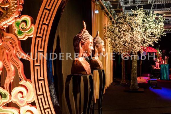 Länder & Flaggen mieten & vermieten - Buddha-Büste, gold - WUNDERRÄUME GmbH vermietet: Dekoration/Kulisse für Event, Messe, Veranstaltung, Incentive, Mitarbeiterfest, Firmenjubiläum in Lichtenstein/Sachsen