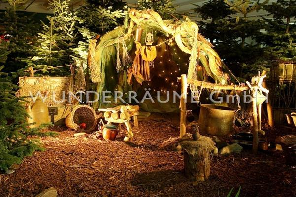 Weihnachtsdekoration mieten & vermieten - Wichtelhütte - WUNDERRÄUME GmbH vermietet: Dekoration/Kulisse für Event, Messe, Veranstaltung, Incentive, Mitarbeiterfest, Firmenjubiläum in Lichtenstein/Sachsen