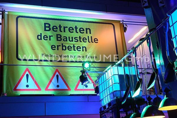 """Kulissen mieten & vermieten - Leinwanddruck """"Betreten erbeten"""" in Lichtenstein/Sachsen"""