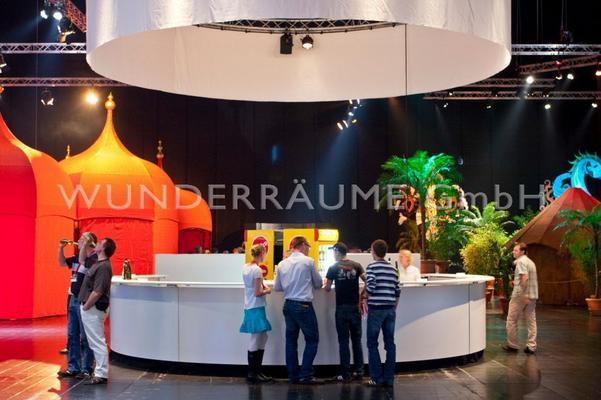 Hochzeitsdekoration mieten & vermieten - Rundbar - WUNDERRÄUME GmbH vermietet: Dekoration/Kulisse für Event, Messe, Veranstaltung, Incentive, Mitarbeiterfest, Firmenjubiläum in Lichtenstein/Sachsen