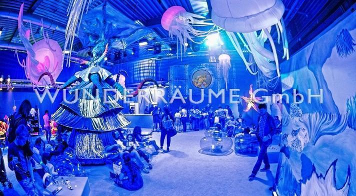 Dekofiguren mieten & vermieten - Quallen - WUNDERRÄUME GmbH vermietet: Dekoration/Kulisse für Event, Messe, Veranstaltung, Incentive, Mitarbeiterfest, Firmenjubiläum in Lichtenstein/Sachsen