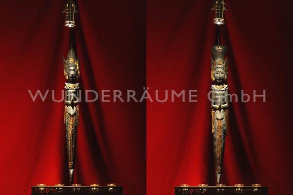 Dekofiguren mieten & vermieten - Buddha-Stelen (Set mit 4 Stück) in Lichtenstein/Sachsen