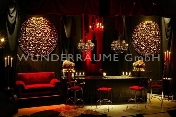 Kulissen mieten & vermieten - Black Lounge - WUNDERRÄUME GmbH vermietet: Dekoration/Kulisse für Event, Messe, Veranstaltung, Incentive, Mitarbeiterfest, Firmenjubiläum in Lichtenstein/Sachsen