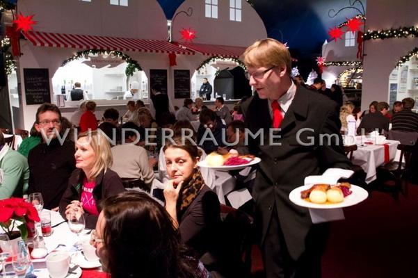 Weihnachtsdekoration mieten & vermieten - Restaurant Winterzauber - WUNDERRÄUME GmbH vermietet: Dekoration/Kulisse für Event, Messe, Veranstaltung, Incentive, Mitarbeiterfest, Firmenjubiläum in Lichtenstein/Sachsen