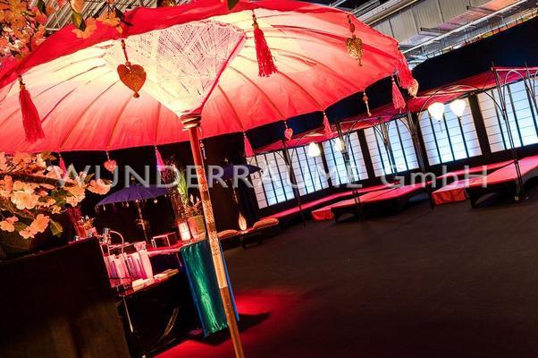 Sonnenschirme mieten & vermieten - Schirm Asien/Orient - WUNDERRÄUME GmbH vermietet: Dekoration/Kulisse für Event, Messe, Veranstaltung, Incentive, Mitarbeiterfest, Firmenjubiläum in Lichtenstein/Sachsen