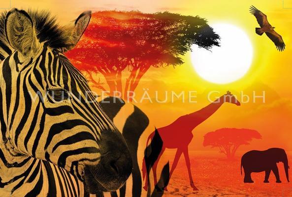"""Kulissen mieten & vermieten - Leinwanddruck """"Tiere  Afrika"""" - WUNDERRÄUME GmbH vermietet: Dekoration/Kulisse für Event, Messe, Veranstaltung, Incentive, Mitarbeiterfest, Firmenjubiläum in Lichtenstein/Sachsen"""