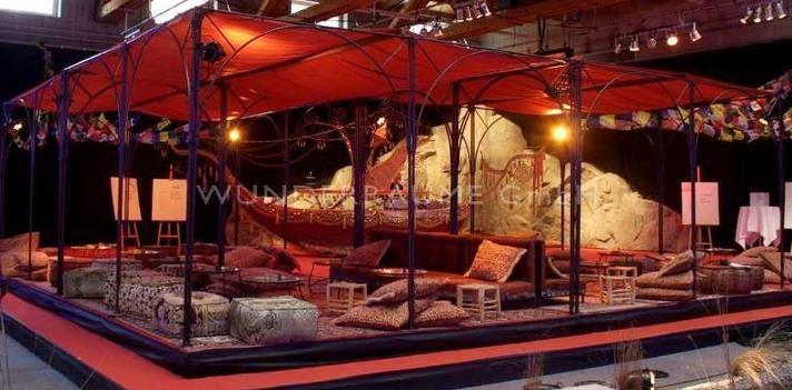 Pavillon mieten & vermieten - Loungepavillon rot - WUNDERRÄUME GmbH vermietet: Dekoration/Kulisse für Event, Messe, Veranstaltung, Incentive, Mitarbeiterfest, Firmenjubiläum in Lichtenstein/Sachsen